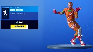 NEW CLEAN GROOVE EMOTE & CHRISTMAS SKINS - Fortnite Daily Reset