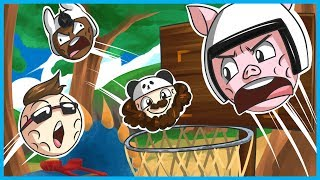 Golf With Friends Funny Moments Basketball Edition #3! - Jurassic Rage 2: The Lost Balls!