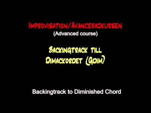 Backing track / Diminished scale