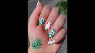Cute Flamingo Nail Art Design // Easy Nail Art Tutorial // Born Pretty Stamping Plate 🌴