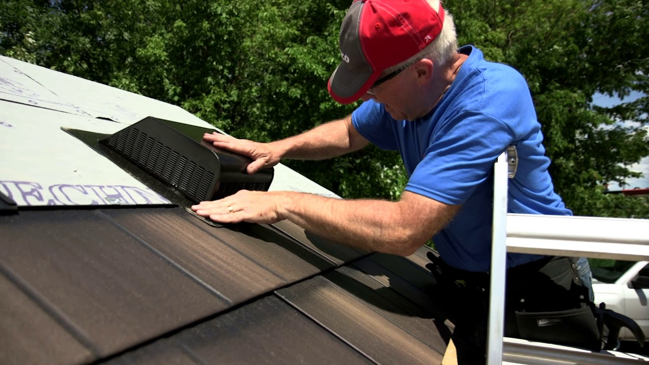 Roofing Installation Roof Vent Youtube