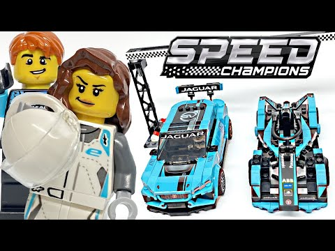 LEGO Speed Champions Formula E Panasonic Jaguar & I-PACE eTROPHY review! 2020 set 76898!