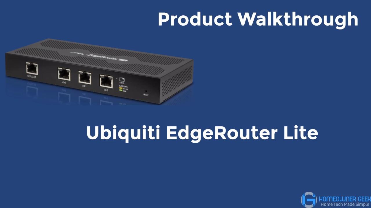 Ubiquiti EdgeRouter Lite Walkthrough