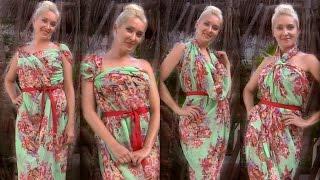 Как завязать парео, платье из платка или летний сарафан на пляж (8 способов)(Смотрите также 10 способов завязать платок на голову как повязку или тюрбан http://www.youtube.com/watch?v=u5QNfAtffqE 15 способ..., 2013-07-06T22:17:10.000Z)