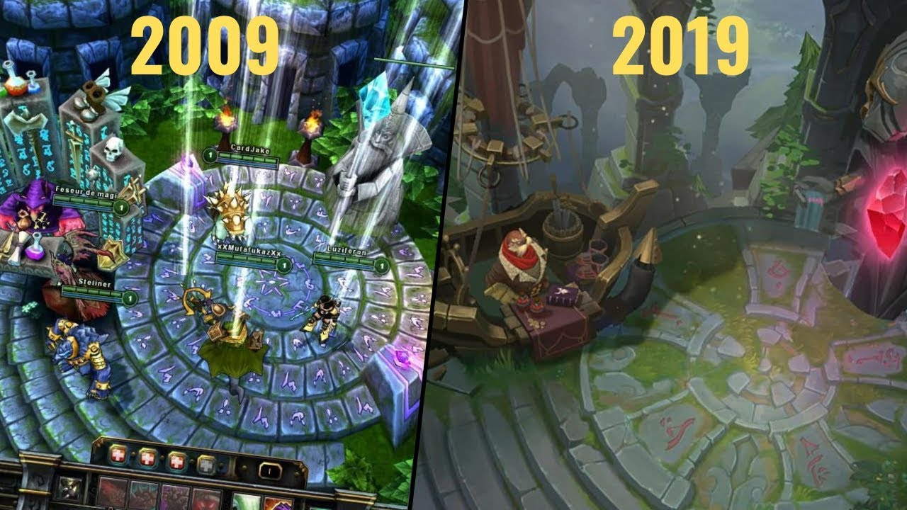 The Evolution Of League Of Legends(Beta - Season 9)