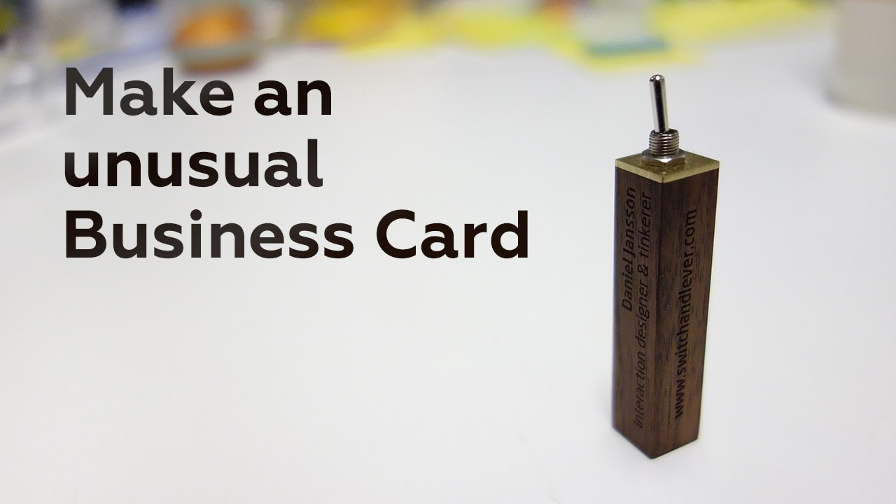 Make an unusual Business Card - YouTube