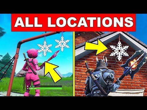 Destroy Snowflake Decorations – ALL LOCATIONS (14 DAYS OF FORTNITE CHALLENGES DAY 12) thumbnail