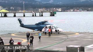 S76 Helijet landing & takeoff