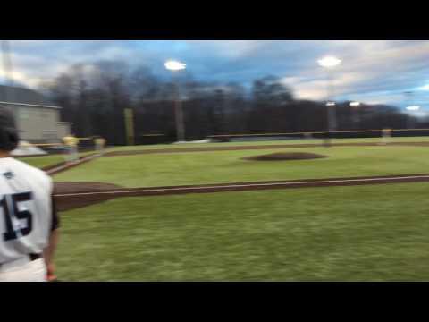 Mike McLaughlin 2 Run Double vs Mass Maritime 3/29