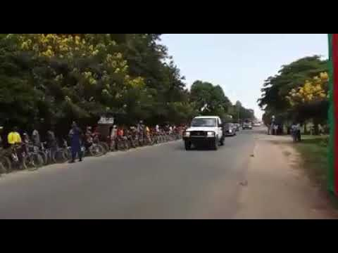 President Jacob Zuma's Motorcade in Burundi escorted by SANDF Special Forces