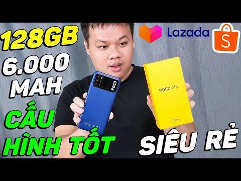 Đánh giá POCO M3 giá siêu rẻ mua LAZADA: 128GB ROM, PIN 6.000 MAH, CAMERA 48MP, CẤU HÌNH TỐT!!!
