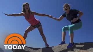 Natalie Morales And Jenna Bush Hager Hang From A Cliff In Rio | TODAY