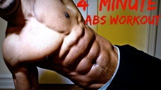 """Fast and Furious Abs"" HOME 6 PACK WORKOUT (Only 4 Minutes!) 7"
