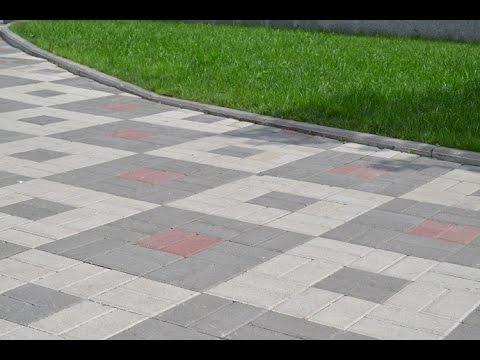 Тротуарная плитка Кирпич. Самые лучшие схемы укладки.