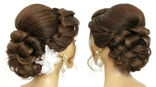 Easy Bridal Updo Tutorial.  Wedding Prom Hairstyles For Long Hair