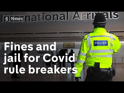 Fines and jail sentences for Covid travel rule breakers