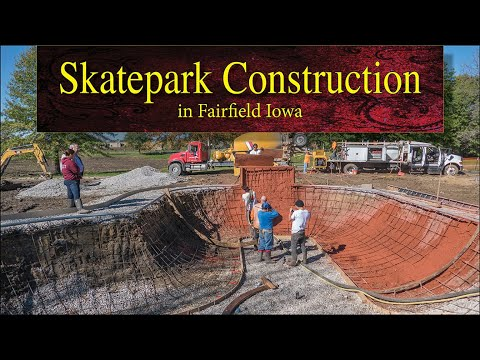 Skatepark Construction at O. B. Nelson Park in Fairfield, Iowa