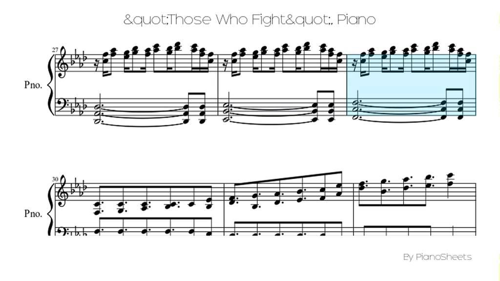 """Those Who Fight"" [Piano Solo]"