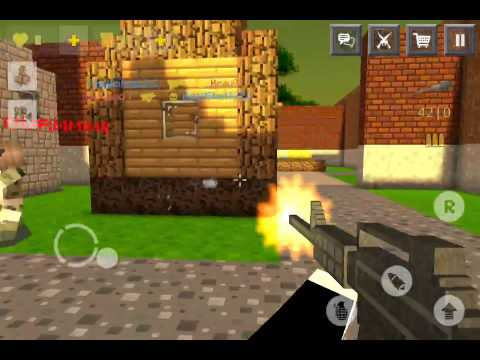Block Force Pixel Style Gun Shooter Game Maze Village Looks Like - Minecraft shooter spiele
