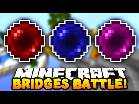 """Minecraft BRIDGES BATTLE """"SKY WARS!"""" #11 w/ PrestonPlayz & MrWoofless"""