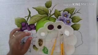 Pintura em tecido para iniciantes uvas