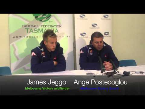 Interviews with Melbourne Victory: James Jeggo and Ange Postecoglou
