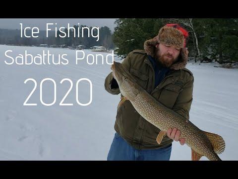 Ice Fishing For Pike On Sabattus Lake!