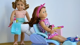 American Girl Doll Haul Salon Spa Sets