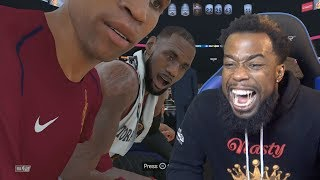 FUSSING WITH LEBRON JAMES ON THE BENCH!! NBA 2k18 MyCareer