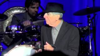 Leonard Cohen, First we take Manhattan, Dublin, 14-09-2012