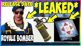 *NEW* ROYALE BOMBER *RELEASE DATE* Poison Grenades & Bounce Pad Returns! (Fortnite Battle Royale)