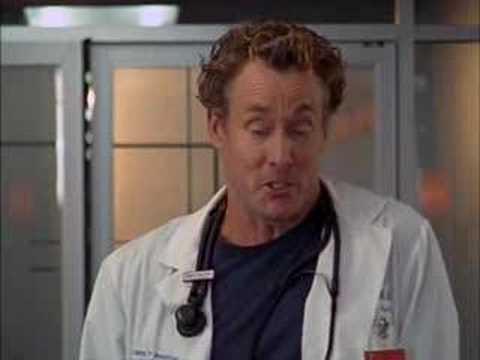 Dr. Cox play Dr. House (Scrubs s6e04)