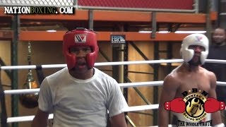DEVIN HANEY HEATED IN SPARRING SESSION AT ROY JONES ACADEMY