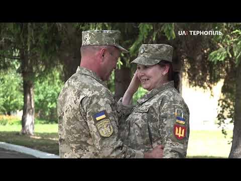 UA: Тернопіль: Військовослужбовець Тернопільської окремої бригади освідчився побратимці