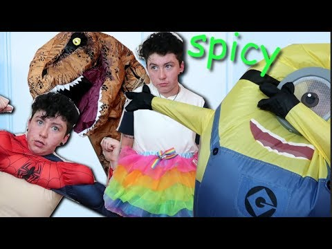 TRYING spicy MEME HALLOWEEN COSTUMES  sc 1 st  YouTube & TRYING spicy MEME HALLOWEEN COSTUMES - YouTube