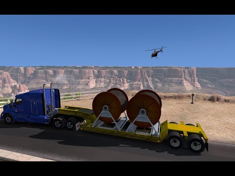 American Truck Simulator Ep 050-4 HD Cables from Redding (CA) to Grand Canyon (AZ)