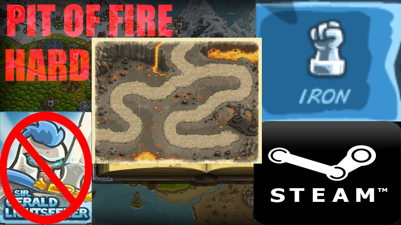 Kingdom Rush - Pit of fire - Iron - Hard - No Heroes ...