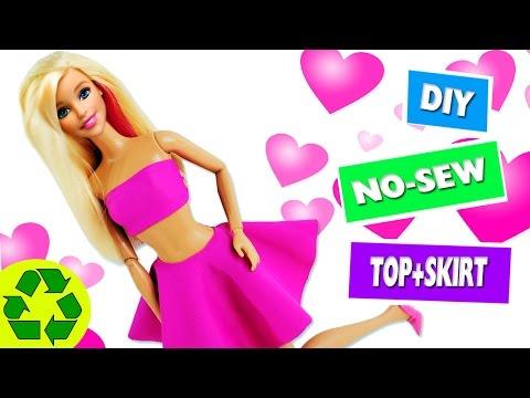 👚HOW TO MAKE BARBIE CLOTHES - No-sew No-Glue Doll Clothes - simplekidscrafts