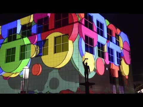 Highlights of Enlighten 2018 video. Spectacular city art in Canberra, Australia.