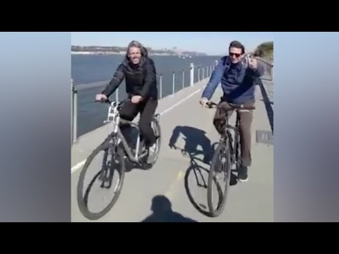 Footage shows Argentinian victims cycling shortly before New York attack