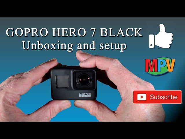 GOPRO HERO 7 BLACK || Unboxing and setup
