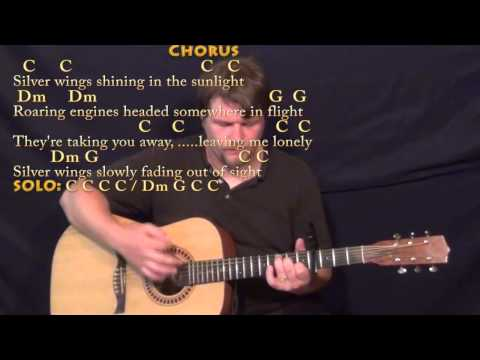 Silver Wings (Merle Haggard) Strum Guitar Cover Lesson with Chords/Lyrics-Capo 4th