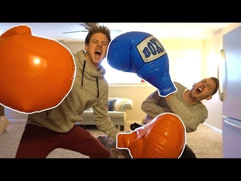 GIANT BOXING GLOVES DUEL!