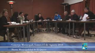 Concejo Municipal Lunes 17 de Agosto 2018