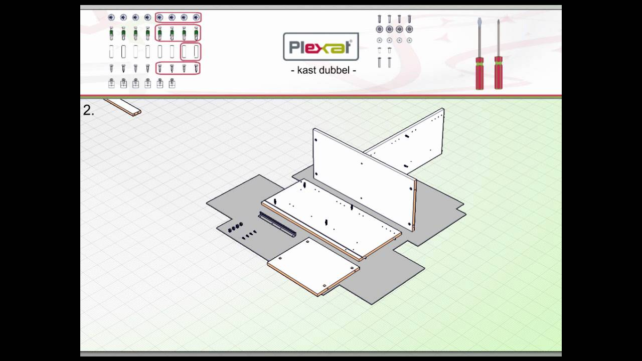 Kast Dubbel True Plexat Montage Instructie