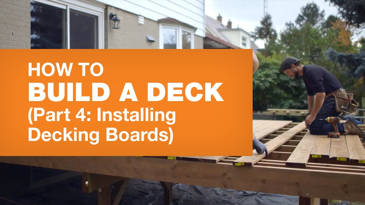 How To Install Decking Boards How To Build A Deck Part 4 5 Youtube