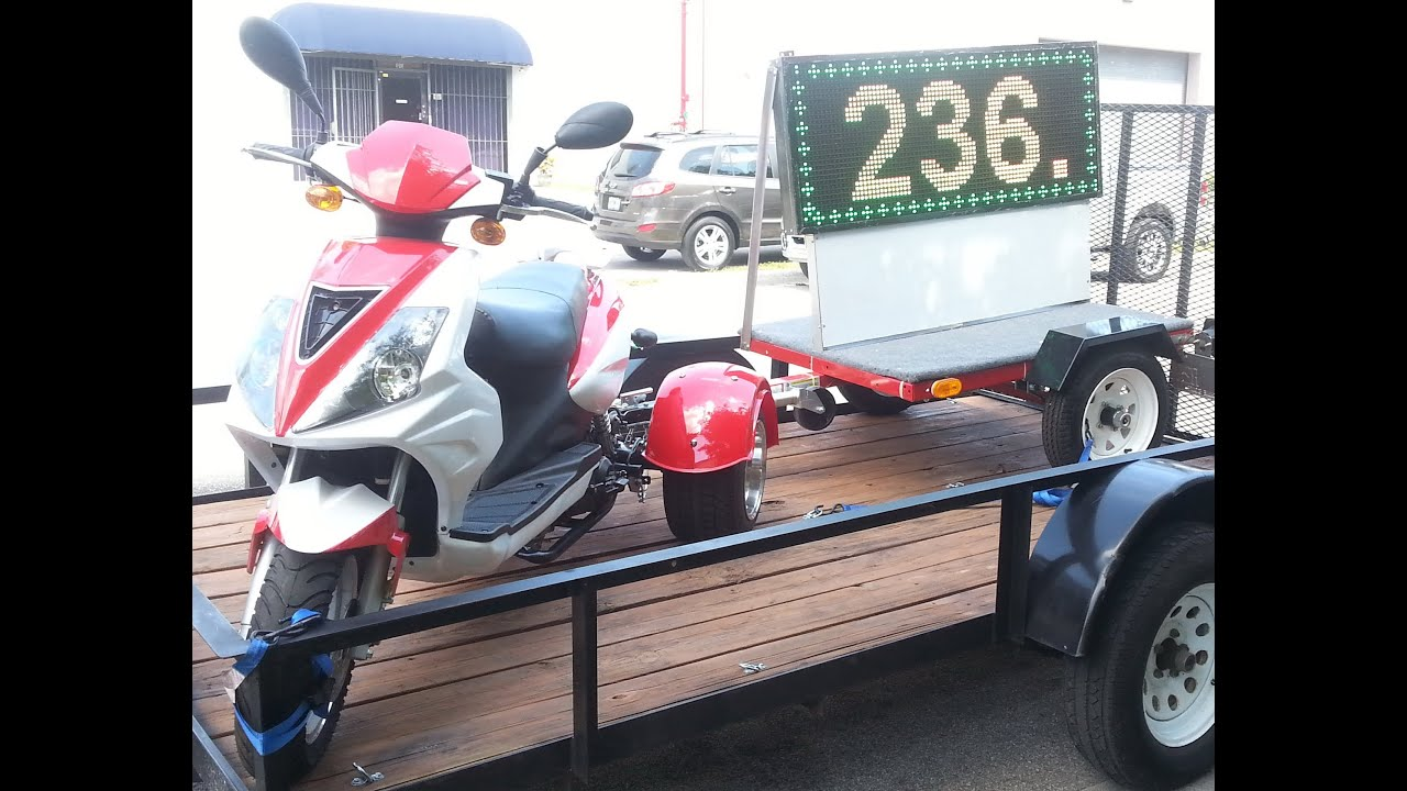 Wheelchair Trailer White Kitchen Table And Chairs Next Scooter Led Signs For Sale Youtube