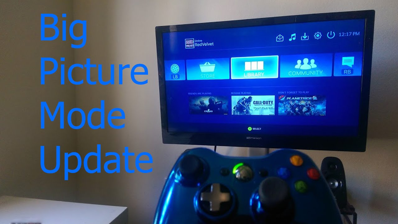 Steam Big Picture Mode update Oct 2015 - YouTube