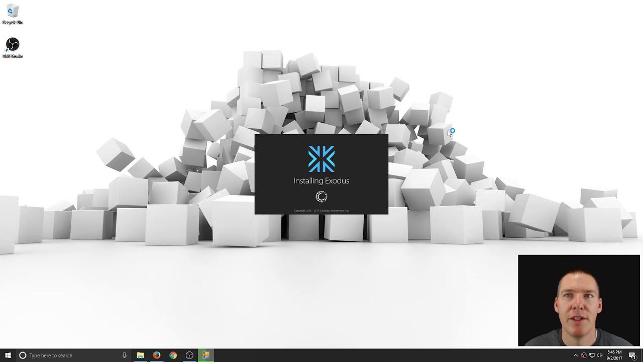 exodus wallet windows 10