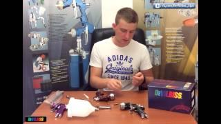 Ремонт краскопульта: замена ремонтного комплекта в краскопультах DeVilbiss.(, 2014-09-23T20:09:26.000Z)
